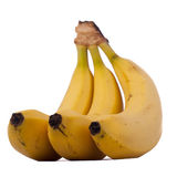 3 банана изолированного на белой предпосылке Стоковое Изображение RF