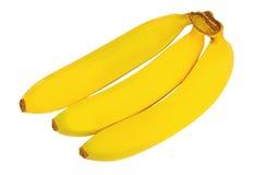 3 банана изолированного на белой предпосылке Стоковые Изображения RF