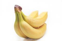 Бананы ветви в падениях воды Стоковые Фото
