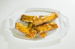 бананы зажарили помадку Стоковые Фото