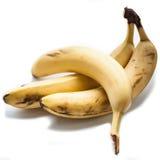 Бананы изолированные на белизне Стоковые Изображения