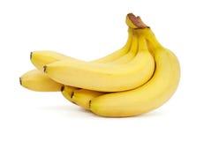 Бананы изолированные на белой предпосылке Стоковое Фото