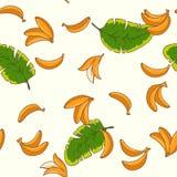 Бананы картина безшовная Стоковое Фото