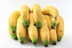 Бананы на белой предпосылке Стоковая Фотография RF