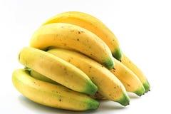 Бананы на белой предпосылке Стоковые Изображения RF