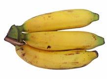 бананы образовывают изолированную белизну Стоковые Фотографии RF