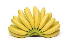 бананы предпосылки изолировали белизну Стоковая Фотография