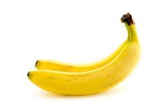бананы предпосылки белые Стоковые Изображения RF