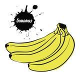 Бананы плодоовощ желтые бесплатная иллюстрация