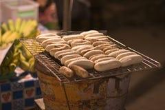бананы barbequed Стоковая Фотография