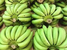 Банан в супермаркете Стоковые Изображения