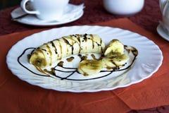 Банан в шоколаде Стоковое Изображение