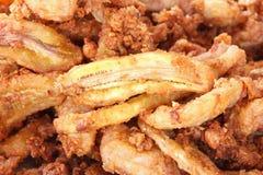 банан зажарил пшеницу гайки отрезанную порошком Стоковые Фотографии RF