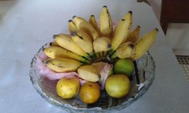 Банан и померанцы Стоковые Изображения