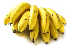 Банан на белизне изолята Стоковая Фотография RF
