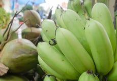 Банан, сырцовый банан съеденный как очень вкусный овощ Стоковое Изображение