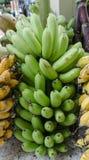 Банан, сырцовый банан съеденный как очень вкусный овощ Стоковые Изображения