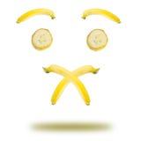 Банан эмоциональный Стоковая Фотография