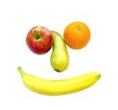 Банан яблока груши оранжевый изолированный на белой предпосылке Стоковые Изображения