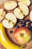 Банан яблок, голубика Стоковая Фотография RF