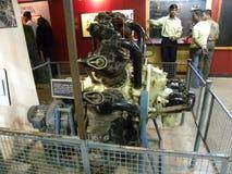 Бангалор, Karnataka, Индия - распределенный авиационный двигатель, авиационный двигатель 8-ое сентября 2009 radial строки 9 цилин Стоковая Фотография