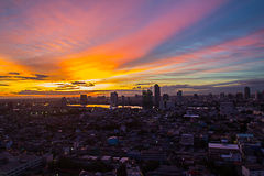 Бангкок в сумерк Стоковое Изображение