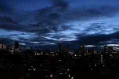 Бангкок -го июнь 07,2018 Таиланд: Взгляд ночи Бангкока Таиланда b Стоковые Изображения