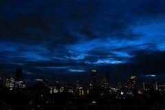Бангкок -го июнь 07,2018 Таиланд: Взгляд ночи Бангкока Таиланда b Стоковая Фотография RF