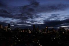 Бангкок -го июнь 07,2018 Таиланд: Взгляд ночи Бангкока Таиланда b Стоковые Фотографии RF