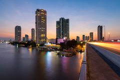Бангкок на заходе солнца. Таиланд Стоковое Фото