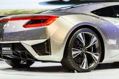 БАНГКОК - 1-ОЕ ДЕКАБРЯ: Концепция Honda NSX на дисплее на 30-ом стоковое изображение rf
