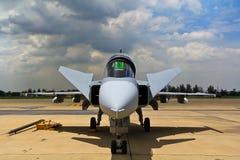 БАНГКОК - 2-ОЕ ИЮЛЯ: JAS 39 Gripen Стоковые Фото