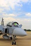 БАНГКОК - 2-ОЕ ИЮЛЯ: JAS 39 Gripen Стоковое Изображение RF