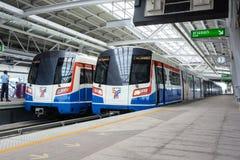 БАНГКОК - 21-ое сентября: Транзитная система общественного транспорта Бангкока (BTS) Стоковая Фотография