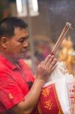 БАНГКОК, - 10-ОЕ ФЕВРАЛЯ: Китайское Новый Год 2013 - торжества внутри Стоковые Фото