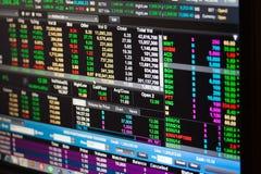 Бангкок - 2-ое января: экономические ситуации фондовой биржи o стоковые изображения rf
