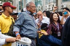 БАНГКОК - 9-ОЕ ЯНВАРЯ 2014: Suthep, руководитель анти- правительства Стоковое Изображение RF