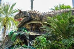 Бангкок, Таиланд: Диаграмма динозавра 2-ое января 2018 на планете динозавра в сердце Бангкока Стоковая Фотография RF