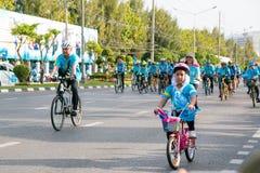 Бангкок, ТАИЛАНД, 16-ое августа - 2015: Велосипед для мамы Стоковая Фотография