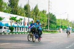 Бангкок, ТАИЛАНД, 16-ое августа - 2015: Велосипед для мамы Стоковые Фотографии RF