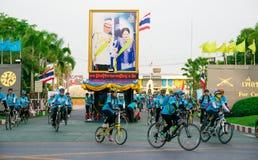 Бангкок, ТАИЛАНД, 16-ое августа - 2015: Велосипед для мамы Стоковые Изображения