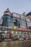 БАНГКОК, ТАИЛАНД - 24-ое декабря 2017: Большой supercenter c, в противоположности центрального мира, на дороге Ratchadamri Стоковое фото RF