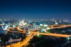 БАНГКОК, ТАИЛАНД - 1-ое ноября 2015: Взгляд Бангкока, высокий взгляд fr Стоковое Изображение RF
