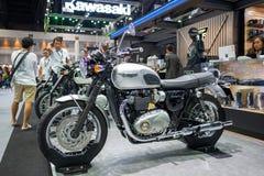 Бангкок, Таиланд - 30-ое ноября 2018: Магазин ТРИУМФА Motocycle и ТРИУМФА на экспо 2018 мотора Таиланда международном 30-ого нояб стоковое изображение