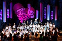 БАНГКОК, ТАИЛАНД - 10-ОЕ НОЯБРЯ: Неопознанные дети выполняют durin Стоковое фото RF