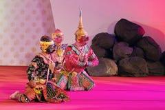 БАНГКОК, ТАИЛАНД - 15-ОЕ ЯНВАРЯ: Тайское традиционное платье. актеры p Стоковое Изображение RF