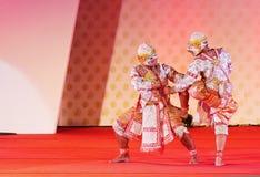 БАНГКОК, ТАИЛАНД - 15-ОЕ ЯНВАРЯ: Тайское традиционное платье. актеры p Стоковая Фотография