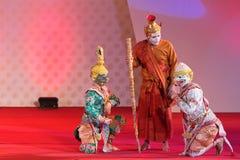 БАНГКОК, ТАИЛАНД - 15-ОЕ ЯНВАРЯ: Тайское традиционное платье. anci Стоковое Фото