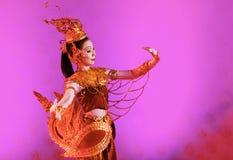 БАНГКОК, ТАИЛАНД - 15-ОЕ ЯНВАРЯ: Тайское традиционное платье. anci Стоковые Фотографии RF