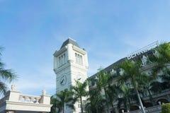 Бангкок, Таиланд, 9 ct 2017, красивое здание школы Беркли международной на предпосылке голубого неба стоковые фото